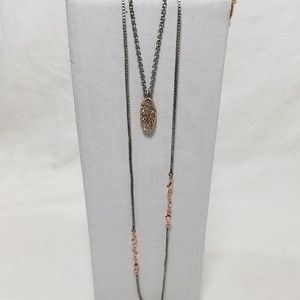 NWT American Eagle Rose Gold/Silver Necklace